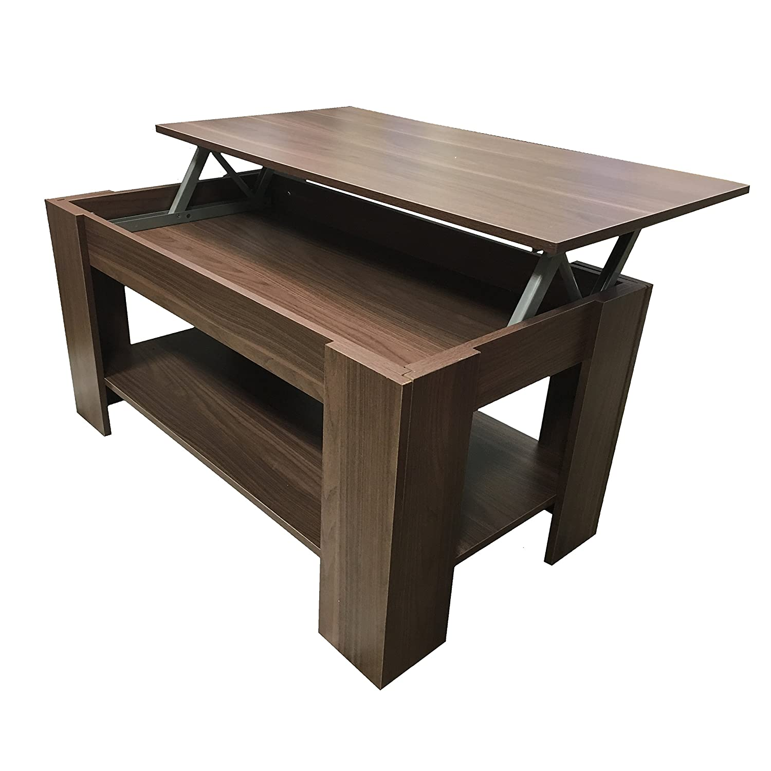 "Black Coffee Table With Storage Uk: Black Or Dark Walnut ""-"" Lift Up"