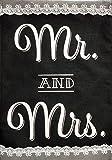 "Mr. & Mrs. Wedding Burlap Garden Flag Wedding Day Celebration 12.5"" x 18"""