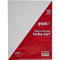 Oyal Torba Zarf, 26 x 35 cm, 90 gr, Silikonlu, 10'lu, Kraft