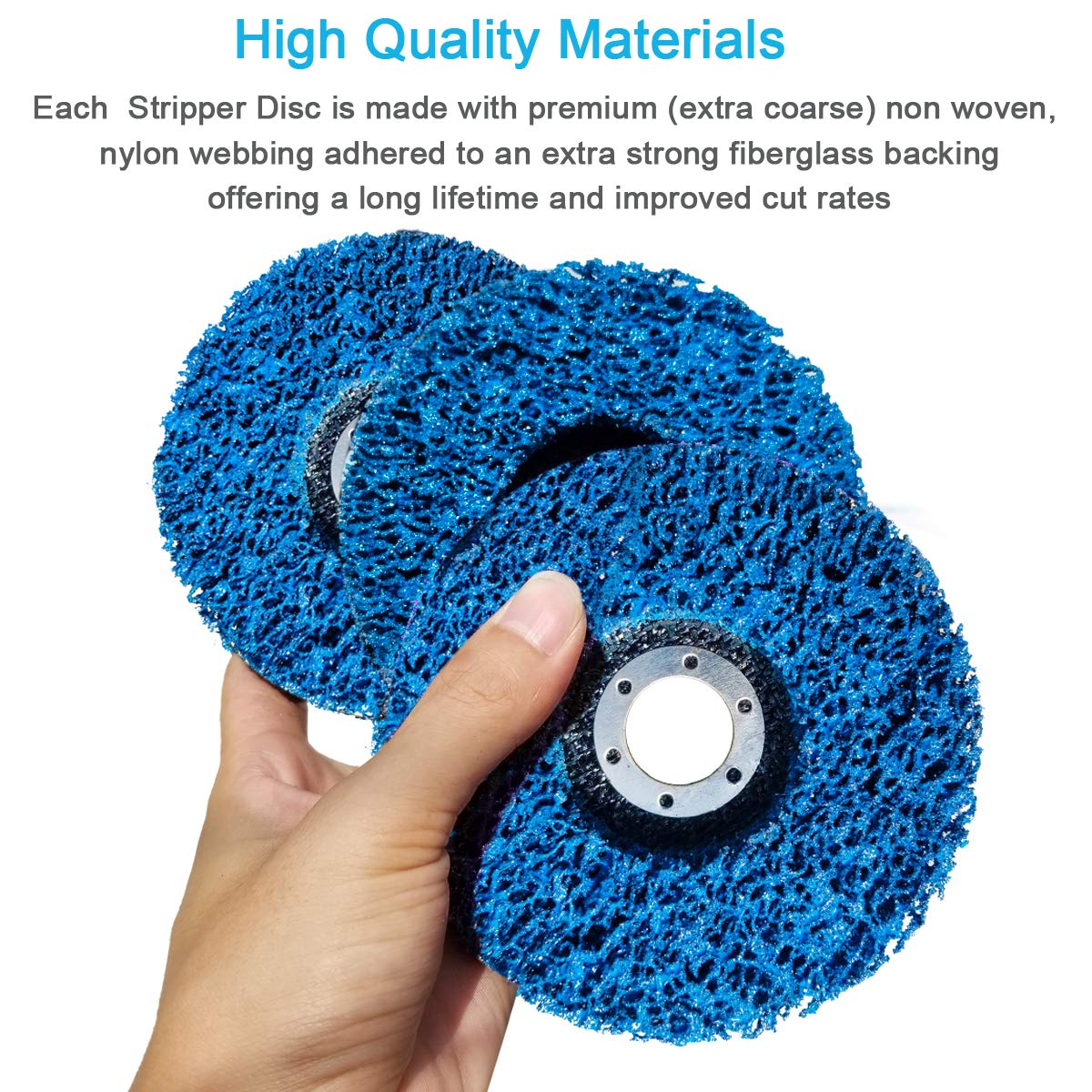 4-1//2 x 7//8 Blue Paint and Rust Stripper Brush Easy Strip Discs Clean /& Remove Paint Rust and Oxidation M-jump 5 Pack