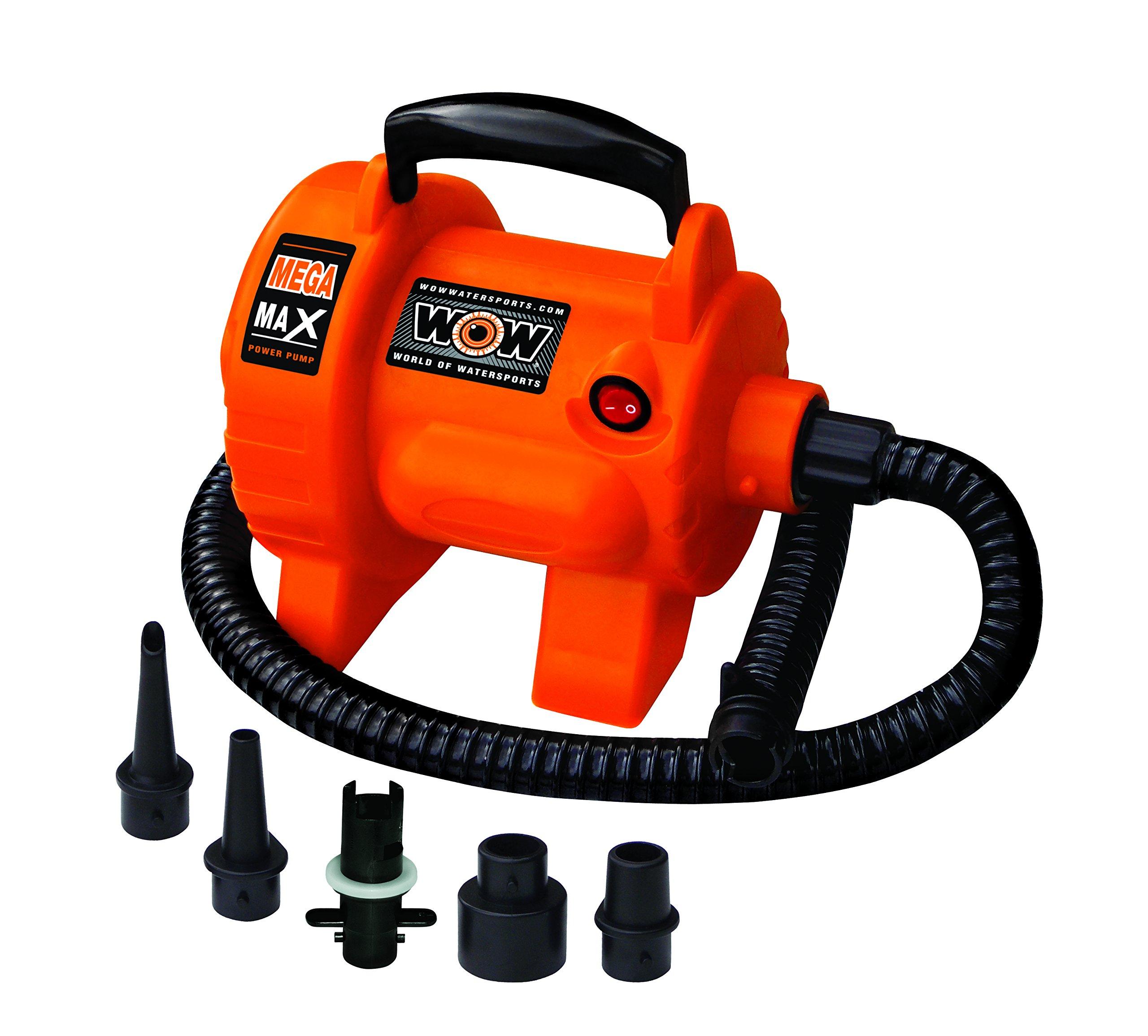 WoW World of Watersports 16-4000, Mega Max 120 Volt Electric Air Pump, 12 Foot Cord, High Pressure