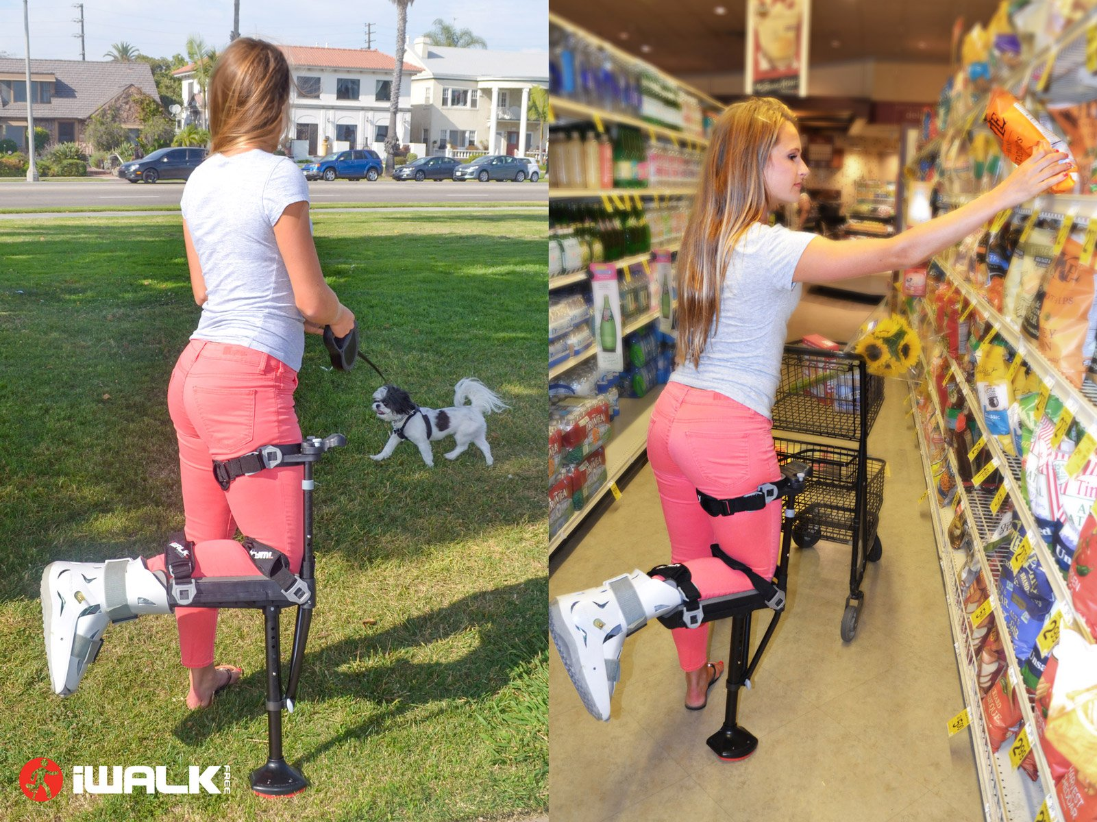 iWALK2.0 Hands Free Knee Crutch - Alternative for Crutches and Knee Scooters - by iWALKFree by iWALKFree