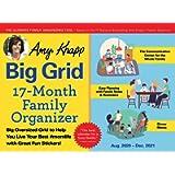 2021 Amy Knapp's Big Grid Family Organizer Wall Calendar: 17-Month Giant Fridge Calendar for Mom with 225+ Stickers…