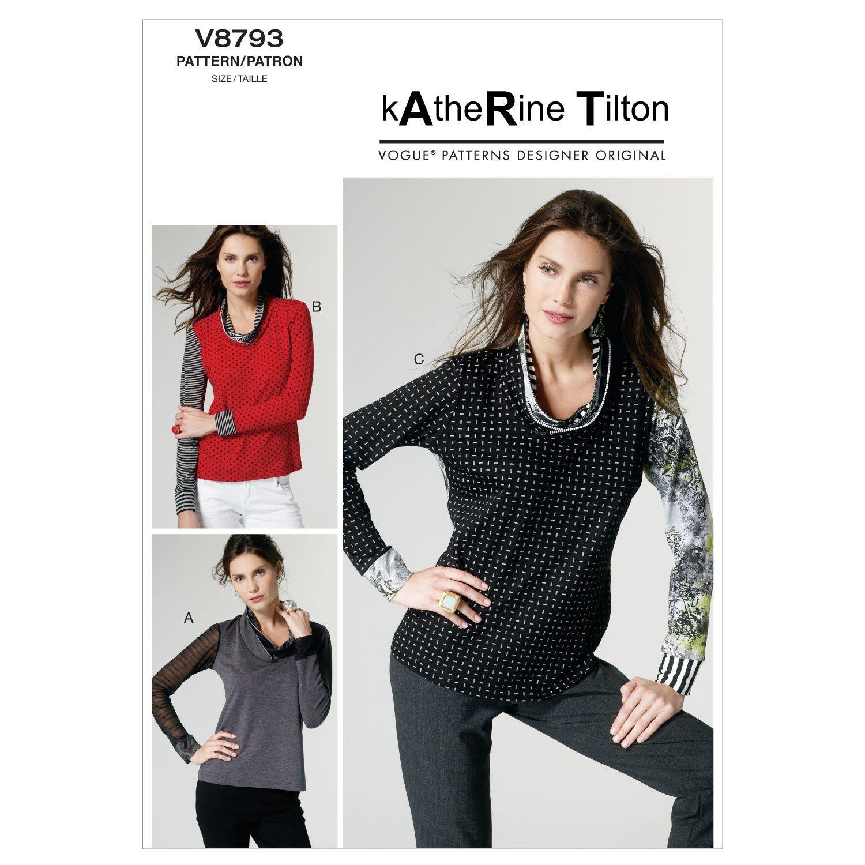 a4c45dfe20 Amazon.com: Vogue Patterns V8793 Misses Top, Size Y (XSM-SML-MED): Arts,  Crafts & Sewing