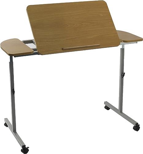 NRS Healthcare M66832 - Mesa para cama o silla con ruedas, altura ...