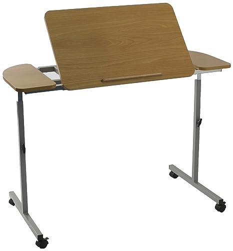 NRS Healthcare M66832 - Mesa para cama o silla con ruedas, altura regulable, inclinable