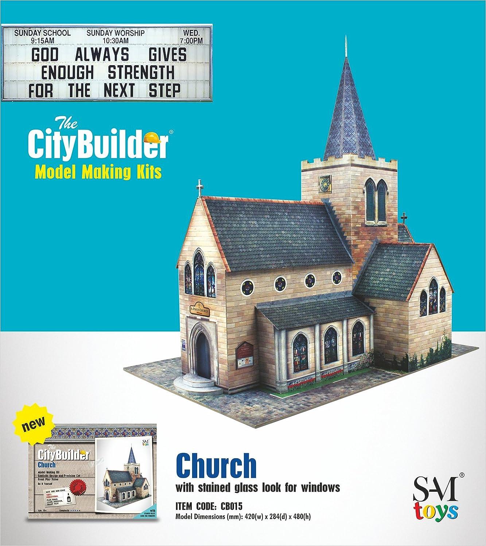 New Santa Cecilia Church Model Kit Hobby Model Figure Building Kits