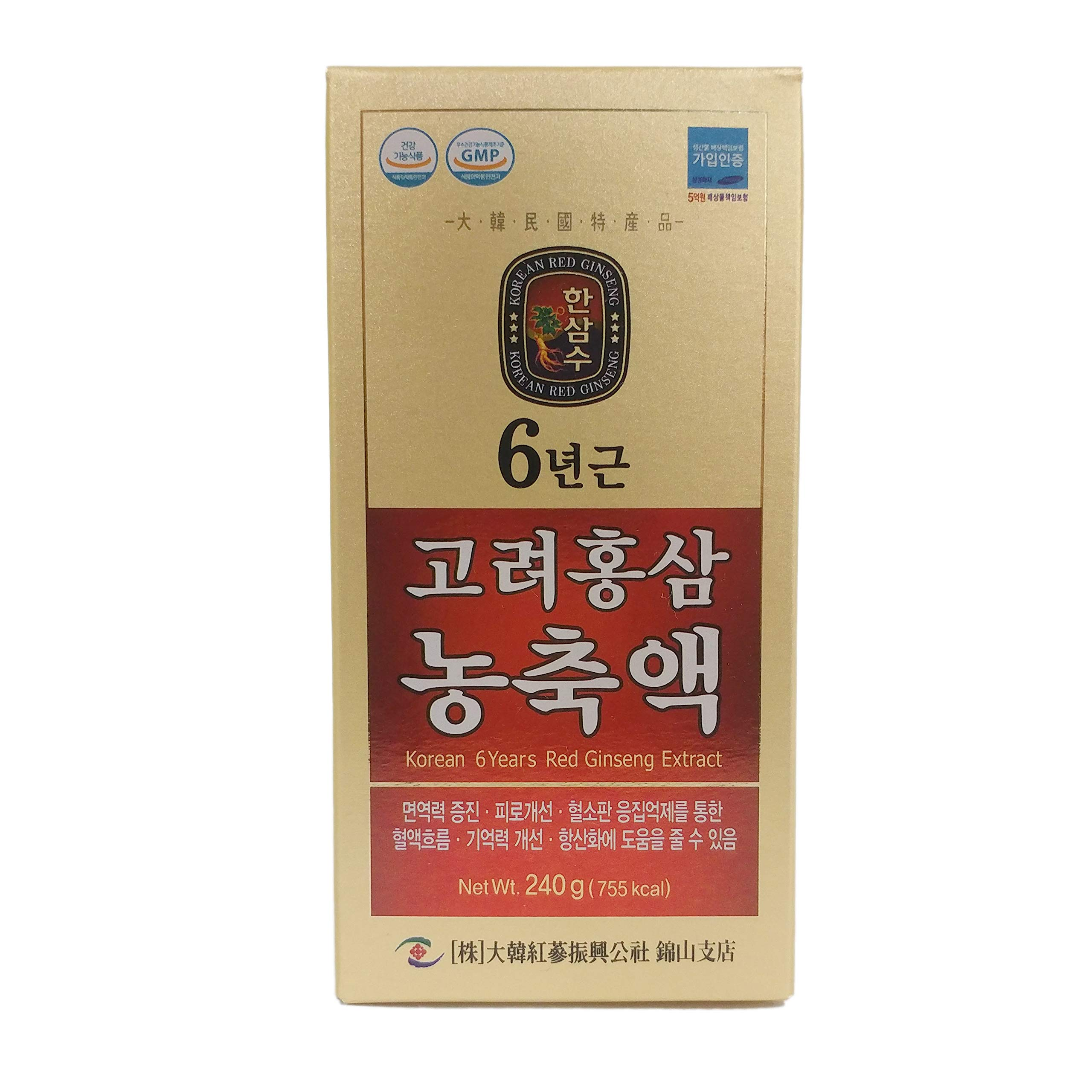 240g(8.5oz), 100% Pure Korean 6years Root Red Ginseng Extract, Saponin, Panax
