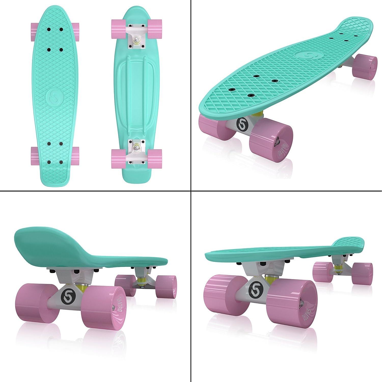 Skatro - Skateboard Mini Mini Mini Cruiser. Tavola completa in plastica di 22 pollici in stile Retro B00K93NIEI Mint Bliss | Valore Formidabile  | Stili diversi  | Moda  | Vinto altamente stimato e ampiamente fidato in patria e all'estero  | Outlet Online  | L 1109ca