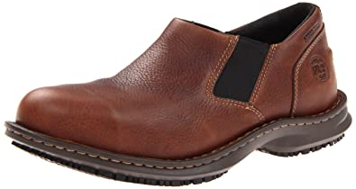 Timberland Pro Slip On Gladstone ESD Mens Brown Leather Work Shoes 5W