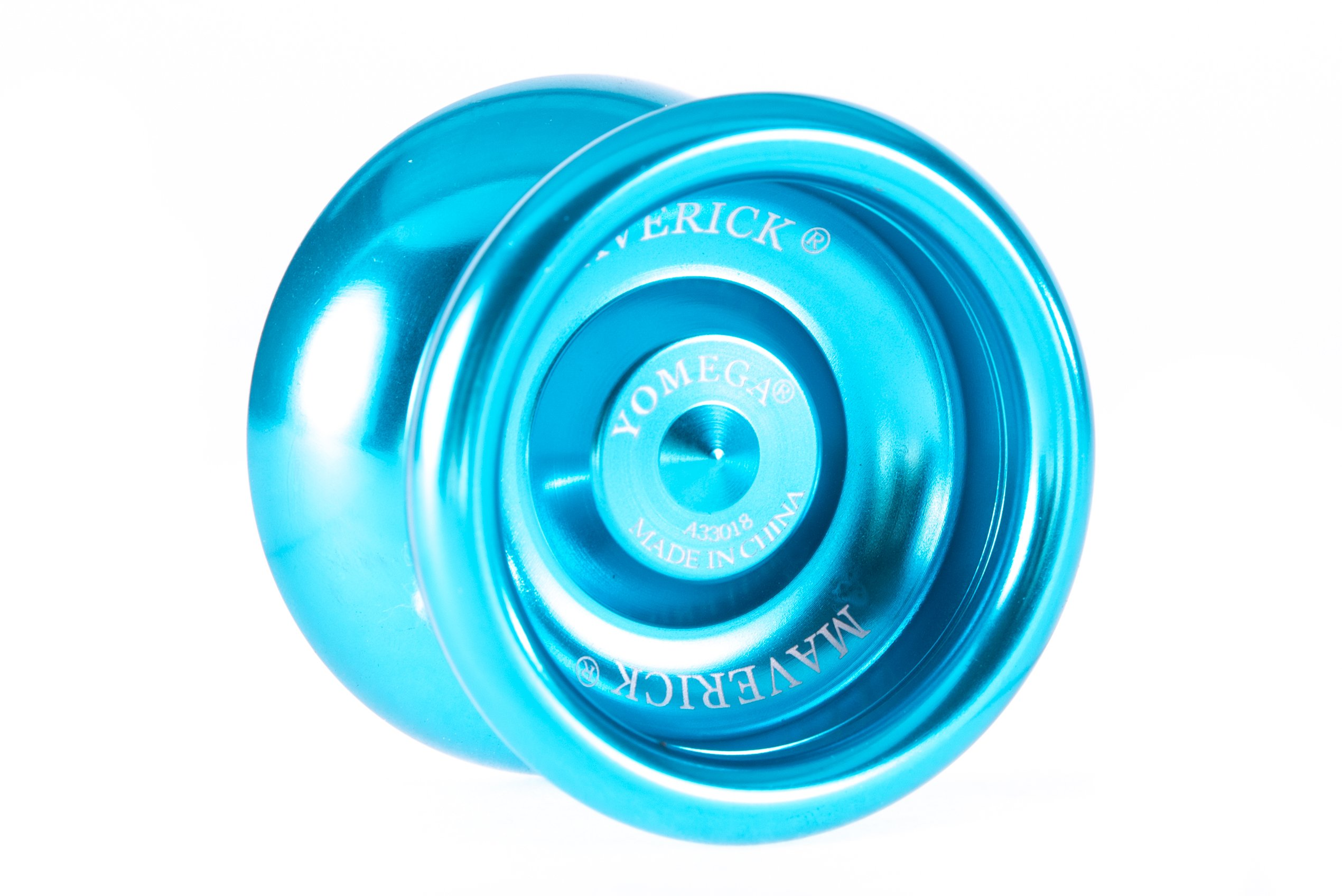 Yomega Maverick -Professional Aluminum Metal Yoyo for Kids and Beginners with C Size Ball Bearing for Advanced yo yo Tricks and Responsive Return (Colors May Vary) by Yomega