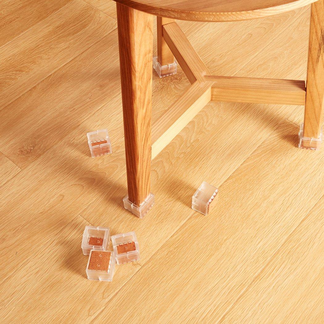 16 ST/ÜCKE 29-35 mm Rutschfeste quadratische M/öbelbeinschalen Tischf/ü/ße Abdeckungen Kappen M/öbelauflagen Bodenschutz Ezprotekt Rubber Chair Feet Cups