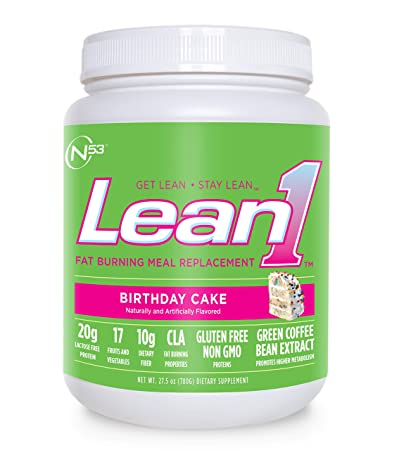Nutrition 53 Lean 1 Meal Replacement Powder For Weight Loss Fat Burner Appetite Control