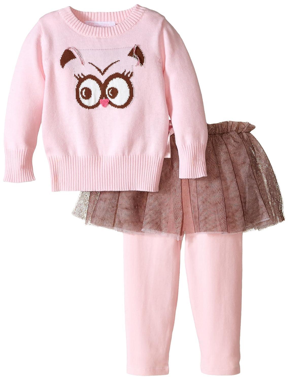 【新発売】 ボニーベビーベビー女の子幼児フクロウIntarsia Sweaterレギンスとスカートセット L ピンク ピンク B010UMWBVI B010UMWBVI, Ebony cube:f7a2843c --- a0267596.xsph.ru