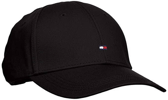 b14f1616 Tommy Hilfiger Men's Classic Baseball Cap, Flag Black, One Size ...