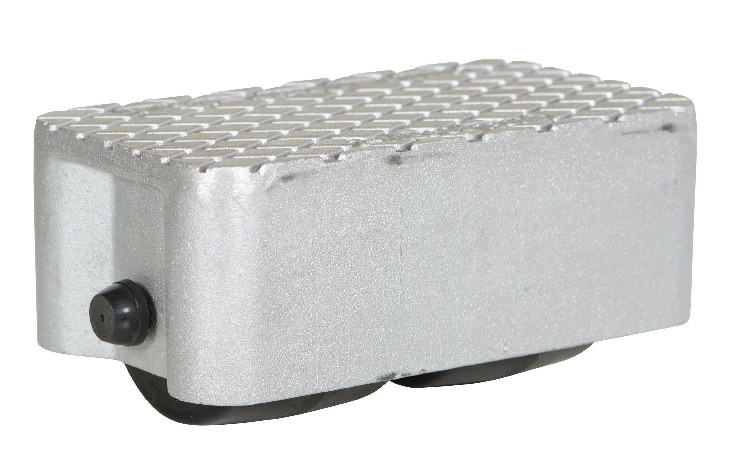 Vestil VPRDO-2 Cast Aluminum Propel Dolly, 3000 lbs Capacity, 8-1/2'' Length x 4-3/4'' Width Deck, 4-1/4'' Overall Height