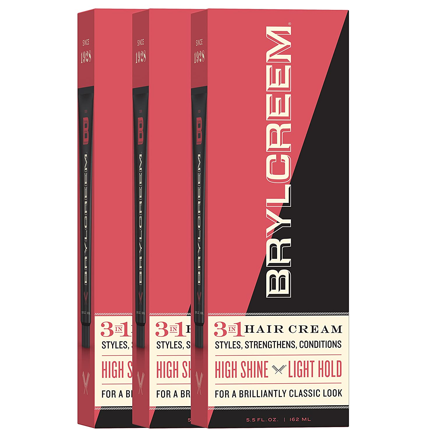 Brylcreem Hair Cream, Original 5.5 oz ( Pack of 3) 011509311603