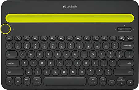 Logitech K480 Teclado Inalámbrico Multidispotivo para Windows, Disposición QWERTY Italiano , Negro