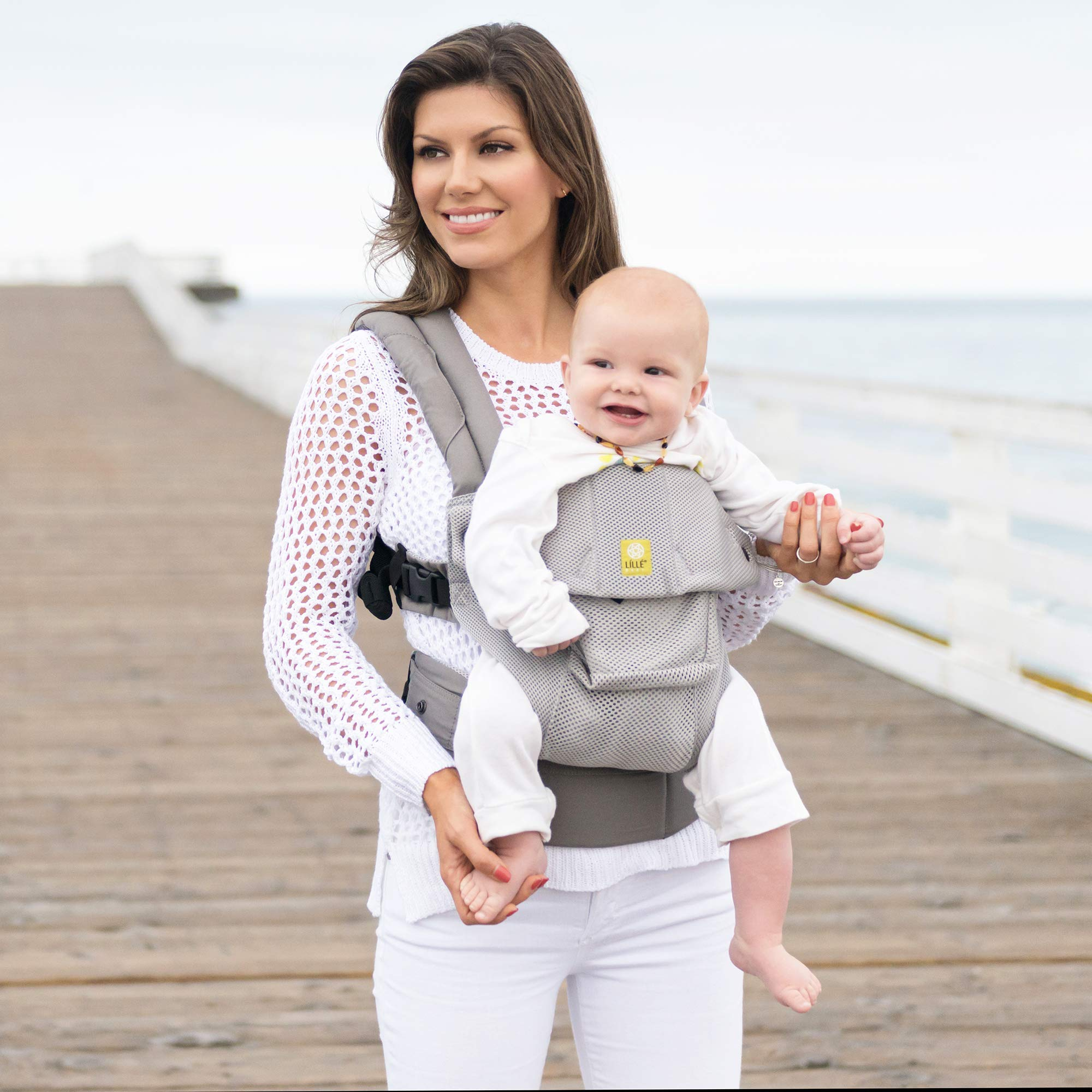 Lillebaby The Complete Airflow 360° Ergonomic Six-Position Baby & Child Carrier, Silver by LILLEbaby (Image #6)