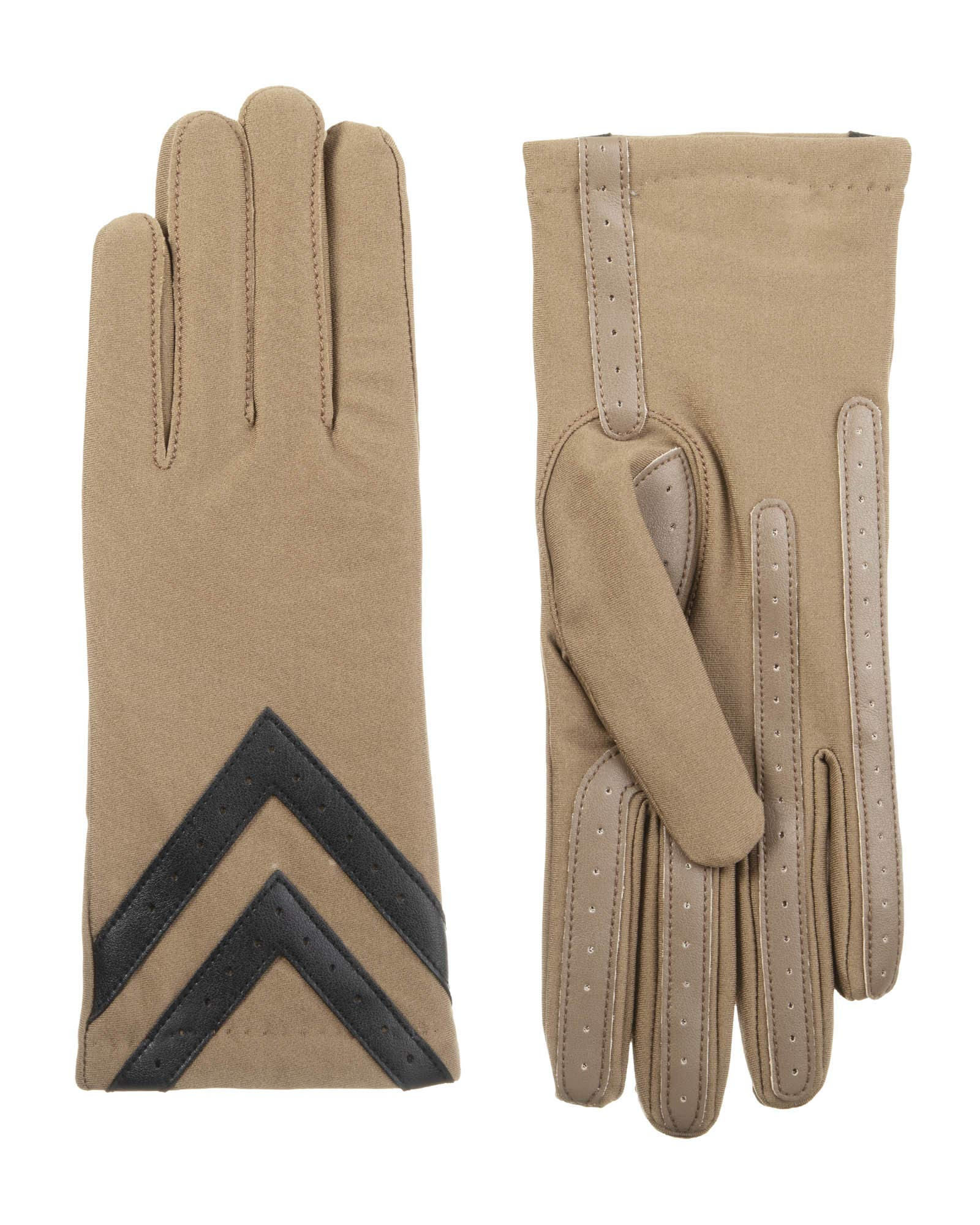 Isotoner Classic Stretch Tech Touch Gloves, Taupe, Large/Extra Large by ISOTONER