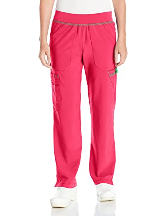 4831599990e Carhartt Women's Petite Cross-Flex Straight Leg Knit Waist Cargo Scrub Pant,  Azalea,