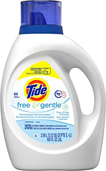 Tide Free Gentle Liquid Laundry Detergent (100 fl oz)