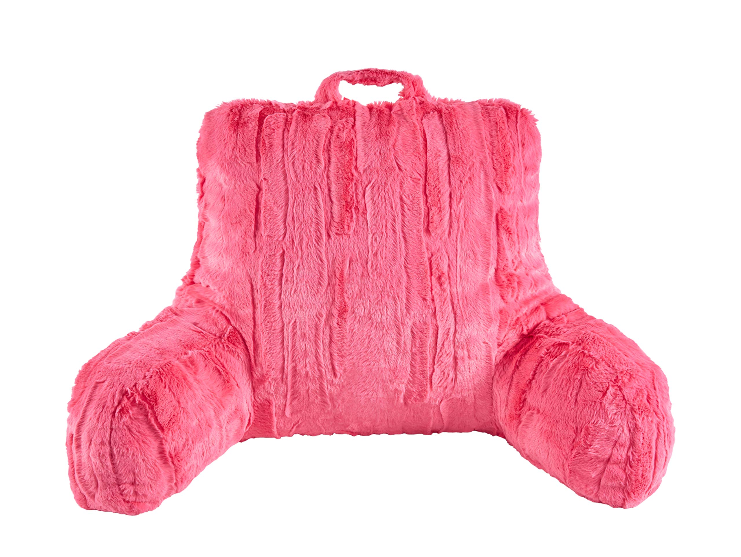 GoodGram Overfilled Ultra Plush & Cozy Hypoallergenic Poodle Bedrest Pillows for Kids & Adults - Assorted Colors (Rhonda Pink)