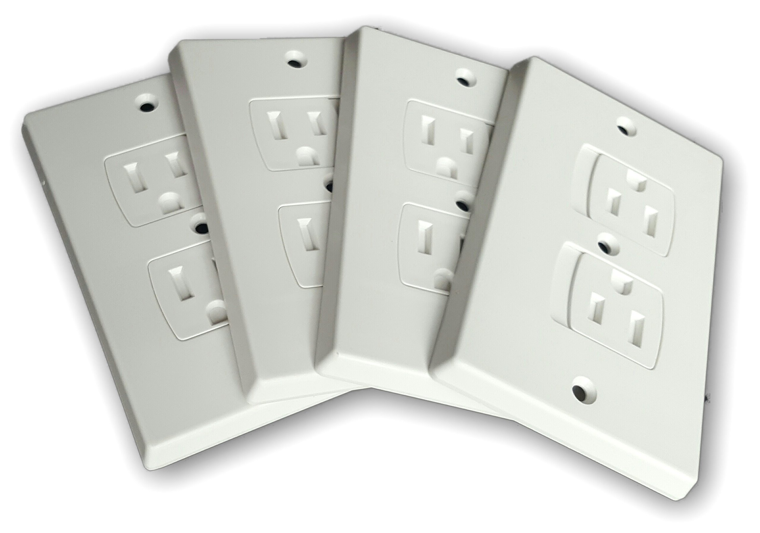 WONDERKID Self-Closing Electrical Outlet Covers for Baby Proofing - White - 4 Pack by WONDERKID