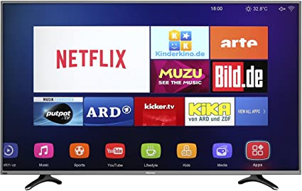 Hisense 50 inch Smart Ultra HD 4K LED TV with 2 years warranty (Silver) [Energy Class A]