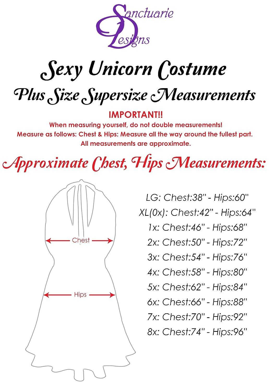 41aee93dee86b Amazon.com: Sexy Black Unicorn Rainbow Fur Plus Size Halloween Costume  Deluxe Wig Kit: Clothing