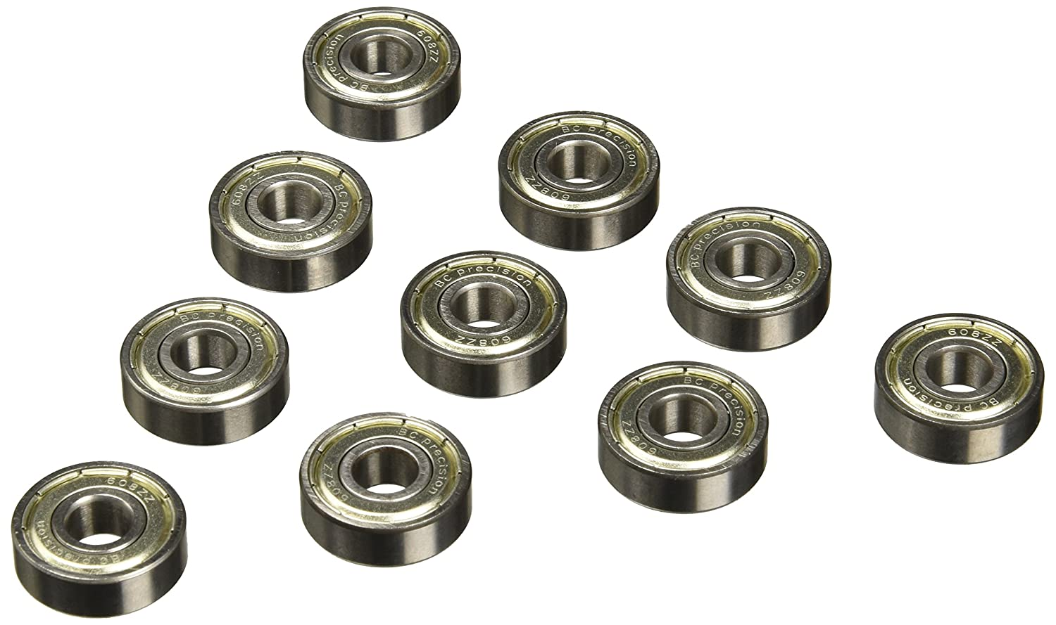 BC Precision 100BC608ZZ One Hundred (100) 8x22x7 Shielded Greased Miniature Ball Bearings
