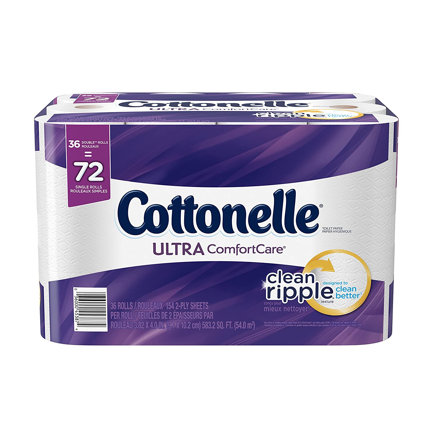 $14.97(was $28.49) Cottonelle Ultra Comfort Care Double Roll Bath Tissue, 36 Count