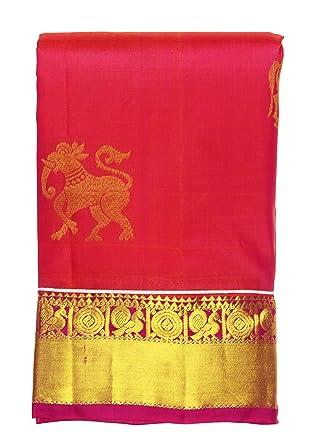 48c2ea3075 Amazon.com: Saravanabava Silks - Kanchipuram Pattu Pure Silks Traditional  Butta Work Soft Silk Sarees -SRBS27: Clothing