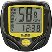 Dark Horse Bicycle Sunding Waterproof LCD Wireless Computer Speedometer with 14 Functions (Black)