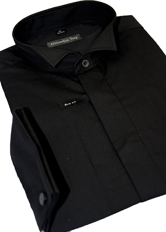 Alexander Hay Heno Camisa de Vestir Formal de fácil Cuidado ...