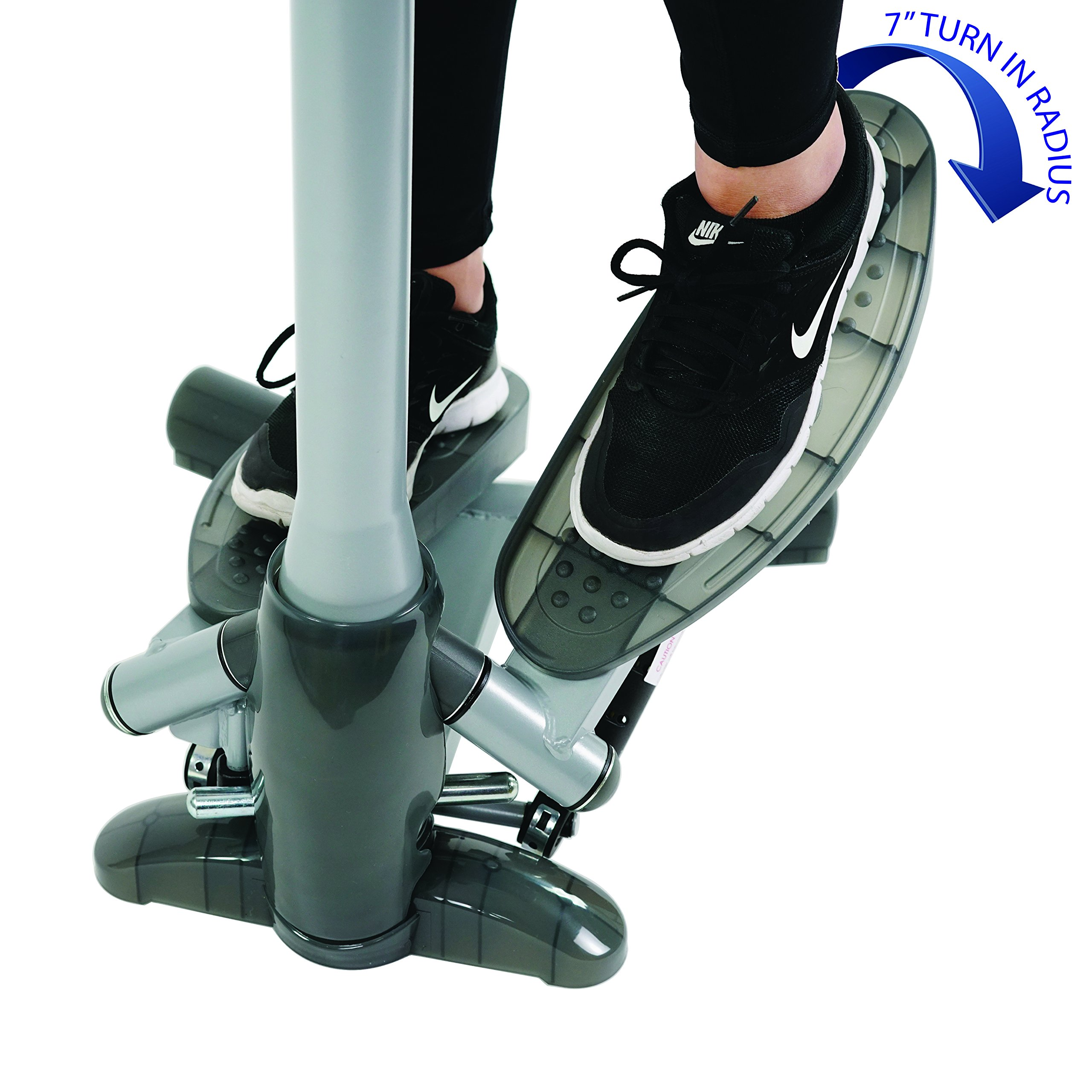 Sunny Health & Fitness SF-S0637 Twist-In Stepper Step Machine w/ Handlebar and LCD Monitor by Sunny Health & Fitness (Image #2)