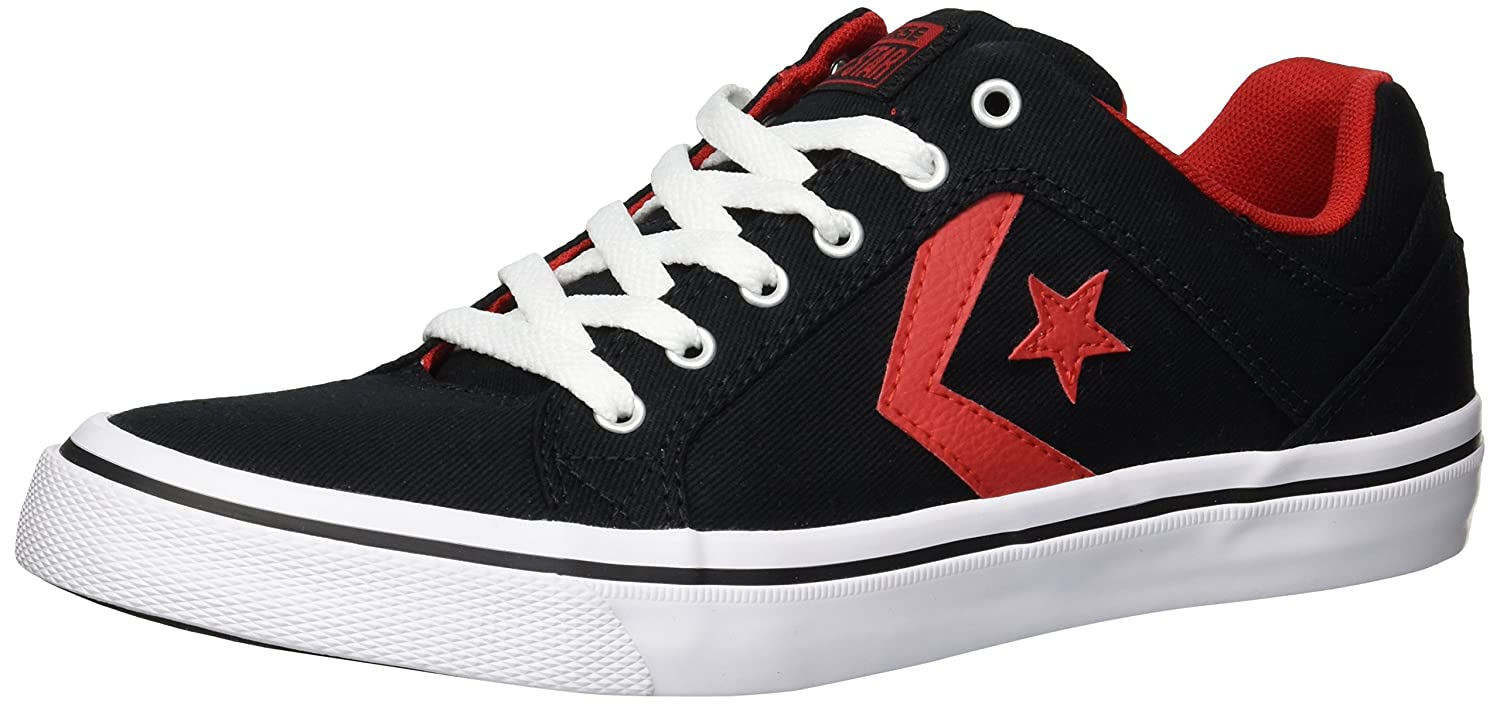 Converse Lifestyle Distrito, Zapatillas Unisex Adulto 45 EU|Negro (Black/Enamel Red/White 001)