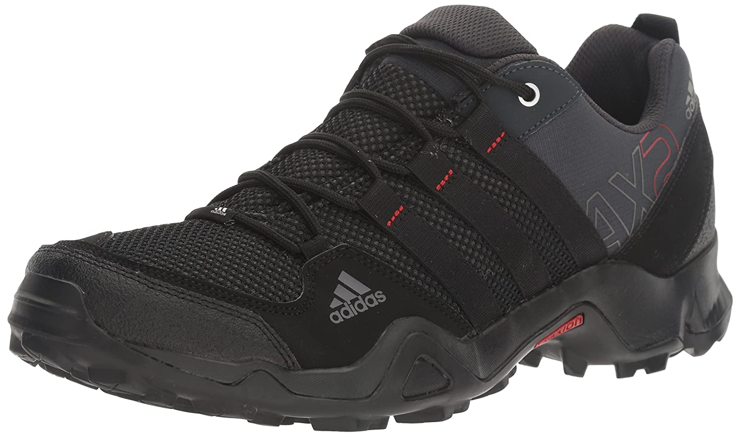 adidas outdoor Men's Ax2 Hiking Shoe B00DQZ5DMG 6.5 D(M) US|Dark Shale/Black/Light Scarlet