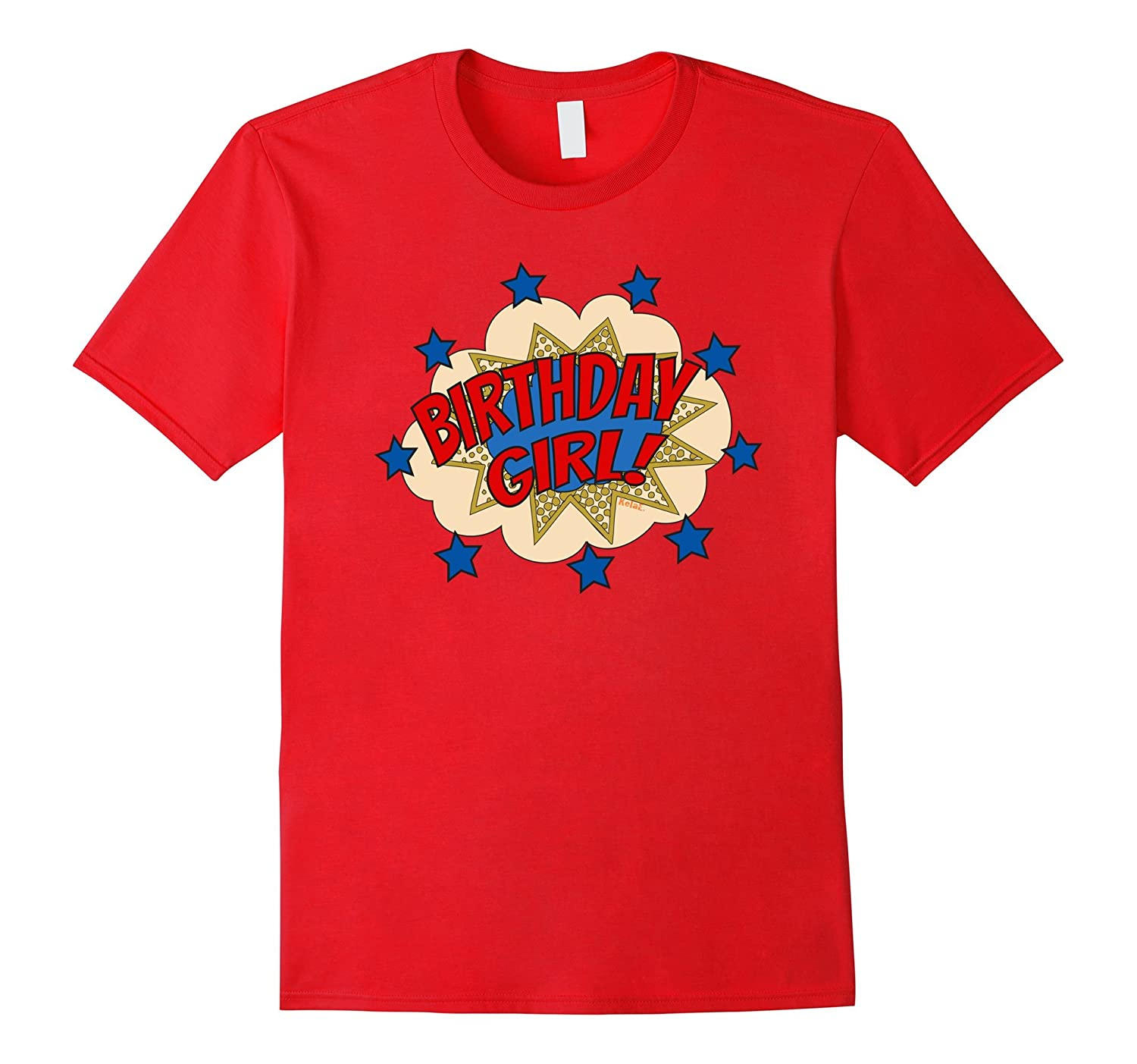 Birthday Superhero T Shirt Birthday Girl Word Bubble With St-BN