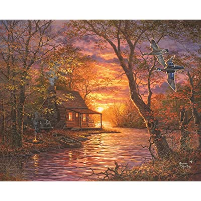 Springbok Puzzles - Duck Camp - 1000 Piece Jigsaw Puzzle - Large 24 Inches by 30 Inches Puzzle - Made in USA - Unique Cut Interlocking Pieces: Toys & Games