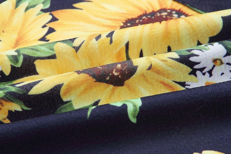 Angashion Damen V Ausschnitt Spaghetti Buegel Blumen Sommerkleid Elegant Vintage Cocktailkleid Kleider