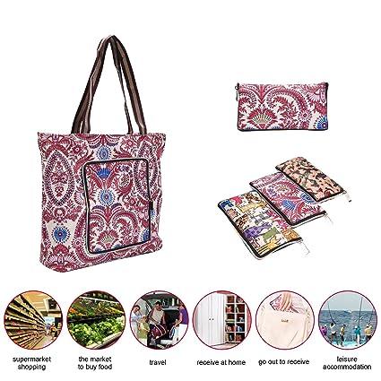 Plegable bolsa de la compra (tamaño grande, niceEshop (TM ...