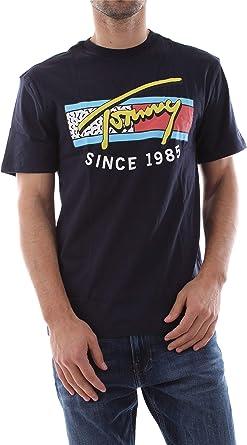 Tommy Jeans Camiseta Neon Script Marino Hombre XS Marino: Amazon.es: Ropa y accesorios