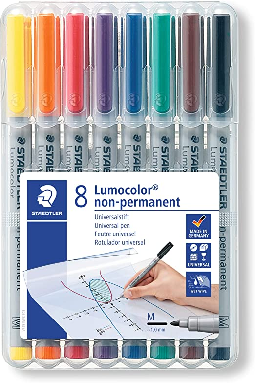 200 pcs//lot Kearing White Fiber Tip Water Erasable Pen for Sew Fabric