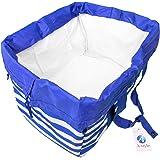 A-style エコバッグ レジかご 折りたたみタイプ 保冷はっ水素材使用 34L ビッグサイズ (ブルー)