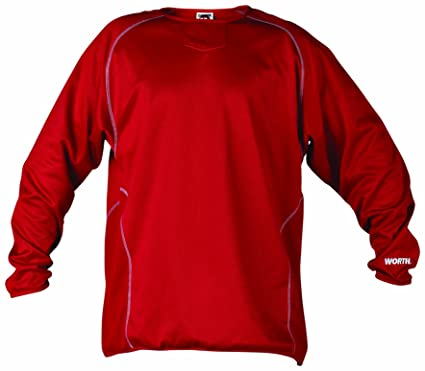 Amazon.com : Worth Wfp Men's Long Sleeve Fleece Pullover (Scarlet ...