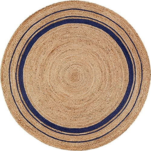 Anji Mountain Kerala Midnite Area Rug, 8-Feet, Natural Gray