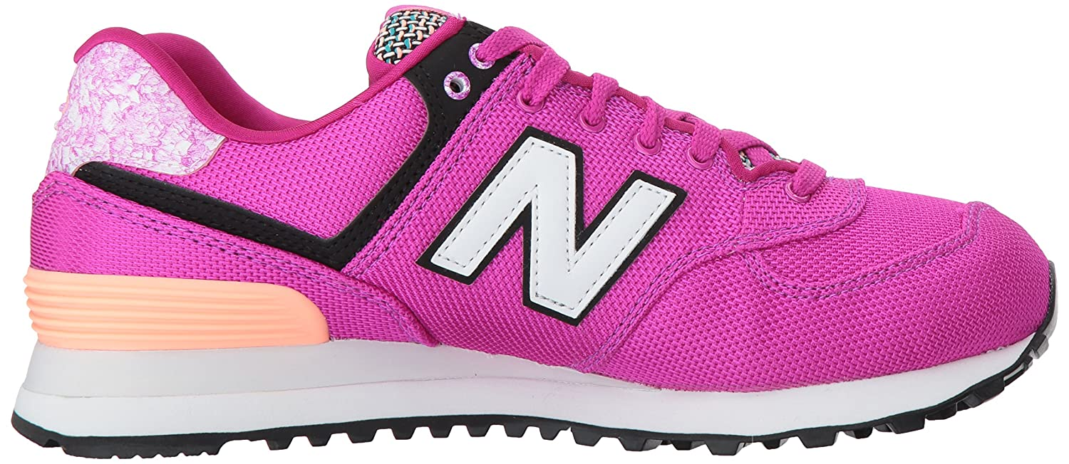 New Balance Women's 574v1 Art School Sneaker B01MSOSCV6 7.5 B(M) US|Poisonberry/Bleached Sunrise