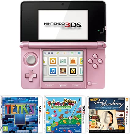 Nintendo Handheld Console 3DS - Pink 3 Game Pack (Nintendo 3DS ...