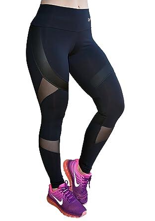 0b1d56a9e44448 OXYFIT Leggings 14441 BK Soft Mesh Sexy Workout Leggings, Cute Yoga Leggings  (Small)
